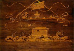 Lorenzo Lotto, Gianfrancesco Capoferri, Coperto della tarsia del diluvio universale @ wikipedia