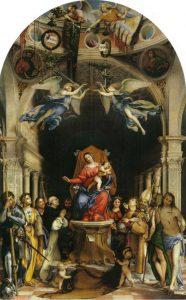 Lorenzo Lotto, Pala Martinengo. Lorenzo Lotto a Bergamo