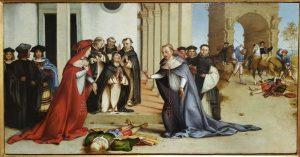 Lorenzo Lotto, San Domenico resuscita Napoleone Orsini