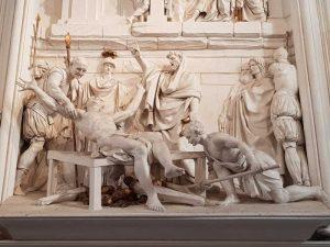 Giacomo Serpotta, oratorio di san Lorenzo - dettaglio del martirio di san Lorenzo