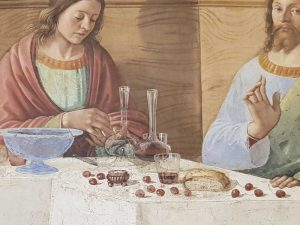 Domenico Ghirlandaio, Cenacolo di san Marco - dettaglio della tavola imbandita