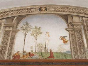 Perugino, Cenacolo di Fuligno - dettaglio dell'Orazione nell'orto degli ulivi