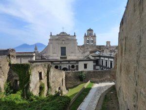 Chiesa e campanile della Certosa di san Martino visti da Castel sant'Elmo
