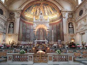 Santa Cecilia in Trastevere. Presbiterio