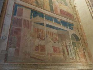 Giotto, Cappella Peruzzi, Banchetto di Erode e Salomè con la testa del Battista