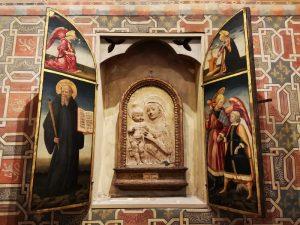 Collaboratore di Desiderio da Settignano, Madonna col Bambino. Camera dei pavoni