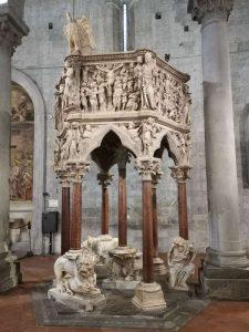 Visitare Pistoia. Chiesa di sant'Andrea, Giovanni Pisano, pulpito
