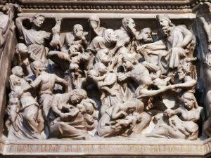 Chiesa di sant'Andrea, Giovanni Pisano, pulpito - Strage degli innocenti