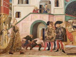 Lo Scheggia, Storie di Susanna - dettaglio, Studiolo