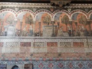 Camera della Castellana di Vergy. dettaglio del fregio