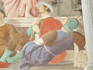 Museo Civico, Piero della Francesca, Resurrezione - dettaglio