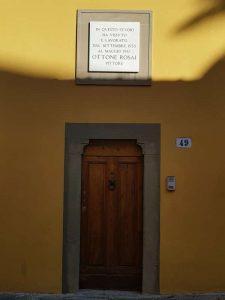 L'abitazione di Ottone Rosai in via san Leonardo