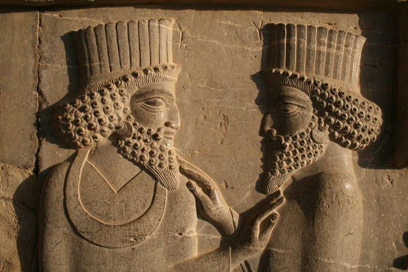 Persepoli, Apadana, Guardia del re - dettaglio