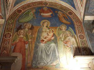 Municipio, sala delle sette Virtù - Madonna col Bambino e angeli