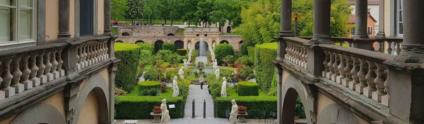 Palazzo Pfanner, vista del giardino
