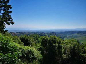 Panorama da Montepulciano sul lago Trasimeno