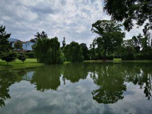 Lago artificiale e Villa del Vescovo