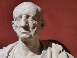 Ritratto maschile su busto moderno, detto Vecchio da Otricoli, circa 50 a.C.