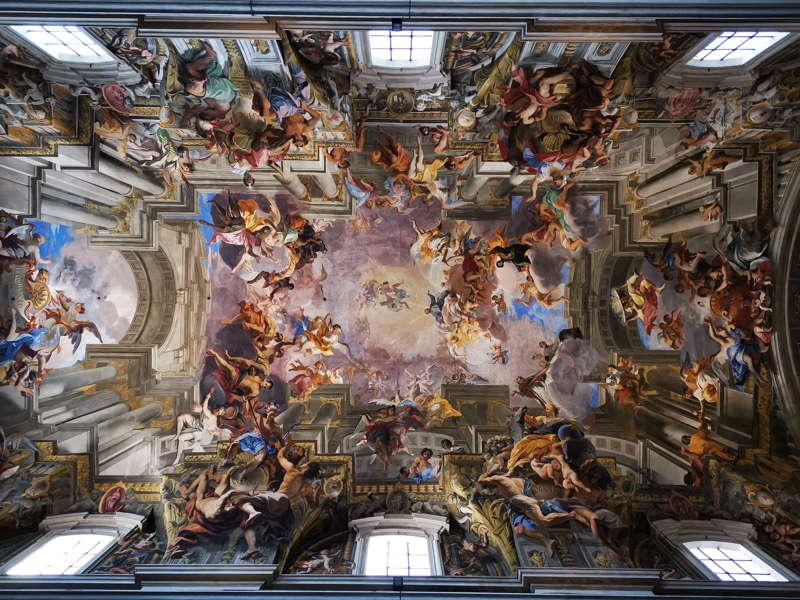 Chiesa di Sant'Ignazio a Roma, la volta di Andrea Pozzo