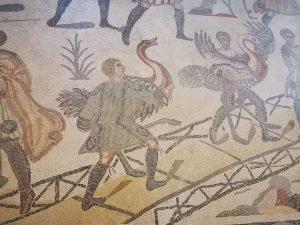 Villa romana del Casale, Ambulacro della Grande Caccia, il carico degli struzzi sulla barca