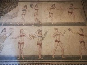 Villa romana del Casale, Sala delle Palestrite